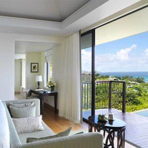 Luxury Seychelles Holidays Raffles Praslin Bedroom View 2
