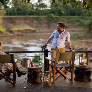 Luxury South Africa Holiday Packages Governors Camp, Kenya Romantic Dining On Deck