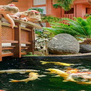 Luxury Tenerife Holiday Packages The Ritz Carlton Abama Fish Pond Bridge