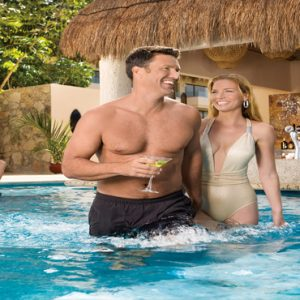 Luxuxry Mexico Holidays Dreams Puerto Aventuras Resort And Spa Adult Only Pool Couple