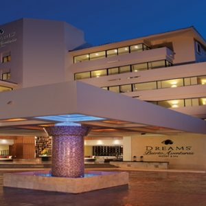 Luxuxry Mexico Holidays Dreams Puerto Aventuras Resort And Spa Hotel Exterior At Night