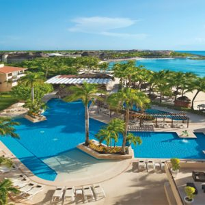 Luxuxry Mexico Holidays Dreams Puerto Aventuras Resort And Spa Main Pool Aerial View