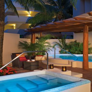 Luxuxry Mexico Holidays Dreams Puerto Aventuras Resort And Spa Spa Outdoor Jacuzzi