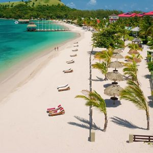 luxury St Lucia holiday Packages Sandals Grande St Lucian Resort Beach