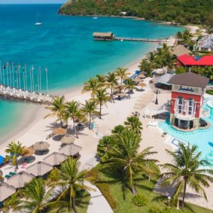 luxury St Lucia holiday Packages Sandals Grande St Lucian Resort Exterior