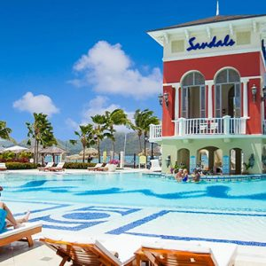 luxury St Lucia holiday Packages Sandals Grande St Lucian Resort Pool