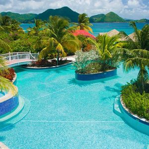 luxury St Lucia holiday Packages Sandals Grande St Lucian Resort Pool 5