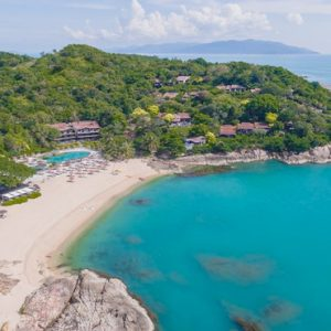 Thailand Honeymoon Packages The Tongsai Bay, Koh Samui Aerial View
