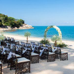 Thailand Honeymoon Packages The Tongsai Bay, Koh Samui Wedding Beach Setup