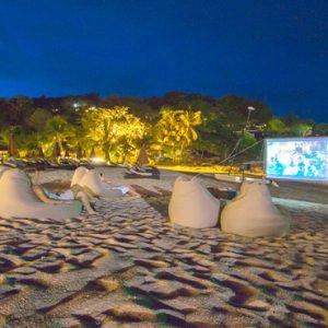 Thailand Honeymoon Packages The Tongsai Bay, Koh Samui Cinema Under The Stars On Beach