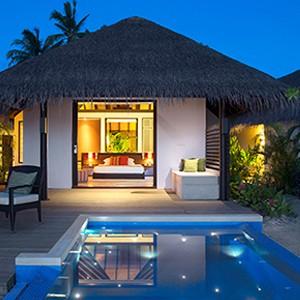 Velassaru Maldives - Beach Villa with Pool - Pool at night