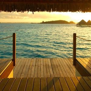intercontinental le moana bora bora water villa balcony