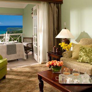 Living Area Butler Village Oceanview One Bedroom Poolside Villa Suite Sandals Ochio Rios Jamaica