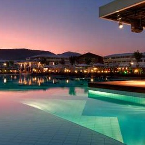 luxury holidays turkey - Hilton Dalaman Sarigerme - night pool