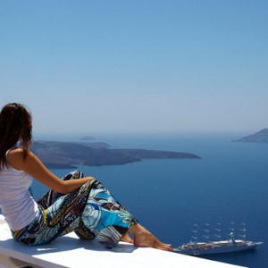 views - sun Rocks Hotel Santorini - luxury santorini holiday packages