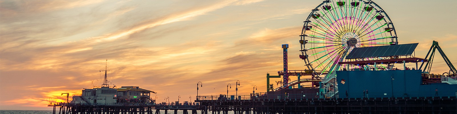 Los Angeles Holidays - Santa Monica Pier - Header