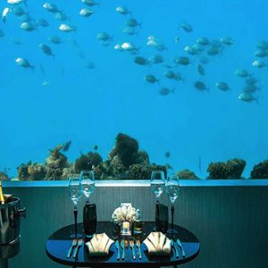 Ozen By Atmosphere At Maadhoo Island Luxury Maldives Honeymoon Packages M6m Underwater Restaurant2