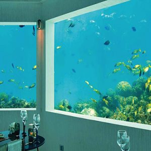 Ozen By Atmosphere At Maadhoo Island Luxury Maldives Honeymoon Packages M6m Underwater Restaurant4