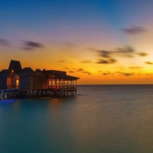Ozen By Atmosphere At Maadhoo Island Luxury Maldives Honeymoon Packages Traditions Restaurants Sunset