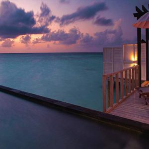 Ozen By Atmosphere At Maadhoo Island Luxury Maldives holiday Packages Wind Villa With Pool Bathroom