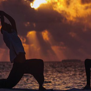 Ozen By Atmosphere At Maadhoo Island Luxury Maldives Honeymoon Packages Yoga Session