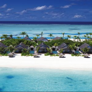 Ozen By Atmosphere At Maadhoo Island Luxury Maldives Honeymoon Packages Aerial View Of Villas