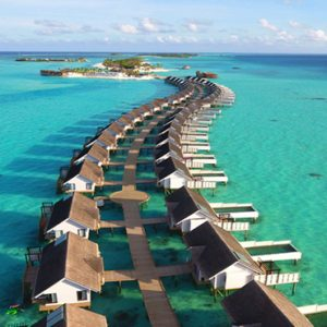 Ozen By Atmosphere At Maadhoo Island Luxury Maldives Honeymoon Packages Aerial View Of Wind Villas And Suites