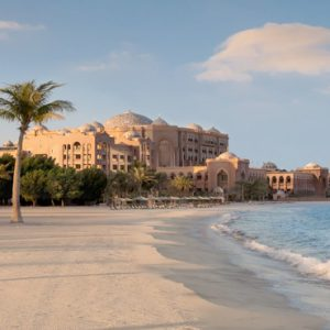 Beach In Morning Emirates Palace Abu Dhabi Abu Dhabi Holidays