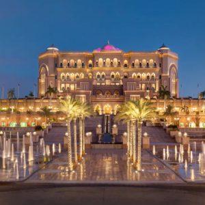 Exterior Fountains At Night Emirates Palace Abu Dhabi Abu Dhabi Holidays