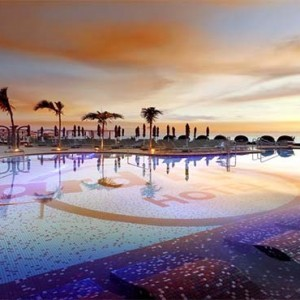 Hard Rock Hotel Tenerife - Luxury Spain holiday packages - pool at sunset