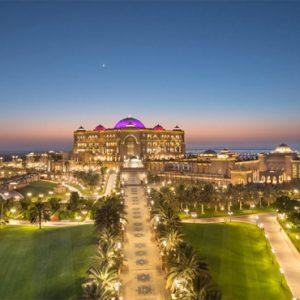 Hotel Exterior At Night Emirates Palace Abu Dhabi Abu Dhabi Holidays