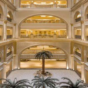 Palm Tree Corridors Emirates Palace Abu Dhabi Abu Dhabi Holidays