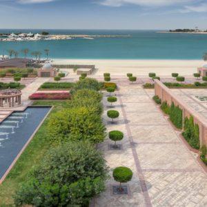 View From Terrace Emirates Palace Abu Dhabi Abu Dhabi Holidays