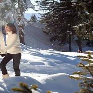 Club Med Meribel LAntares - France holiday - snow walking