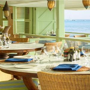 little good harbour - luxury barbados - the fish pot restaurant