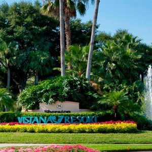 Sheraton Vistana Villages Resort, Lake Bueno Vistas Orlando Holiday Front Entrance