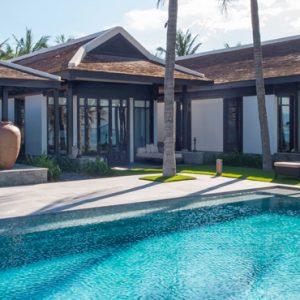 luxury Vietnam holiday Packages Four Seasons Resorts Nam Hai Five Bedroom Beachfront Pool Villa