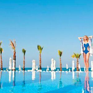 Luxury Cyprus Holiday Olympic Lagoon Resort Paphos Poolside