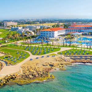 Luxury Cyprus Holiday Packages Olympic Lagoon Resort Paphos Aerial View