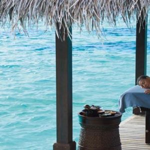 Luxury Maldives Holiday Packages Shangri La's Villingili Resort And Spa CHI, The Spa Massage Overwater