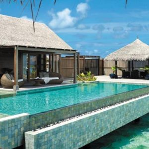 Luxury Maldives Holiday Packages Shangri La's Villingili Resort And Spa Villa Muthee Deck And Infinity Pool