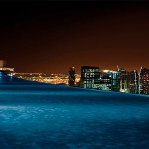 Marina Bay Sands Luxury Sinagpore Holiday Packages Infinity Rooftop Pool At Night