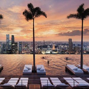 Marina Bay Sands Luxury Sinagpore Holiday Packages Infinity Rooftop Pool At Sunset