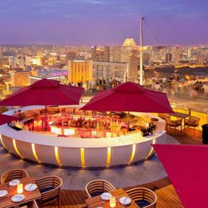 Marina Bay Sands Luxury Singapore Holiday Packages Ce La Vi Restaurant And Sky Bar Aerial View
