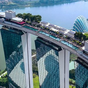 Marina Bay Sands Luxury Singapore Holiday Packages Aerial View