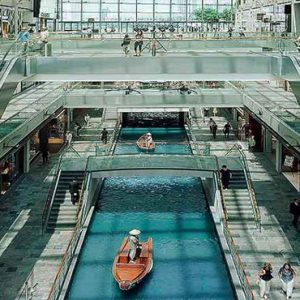 Marina Bay Sands Luxury Singapore Holiday Packages The Shoppes Along Canal Aerial View