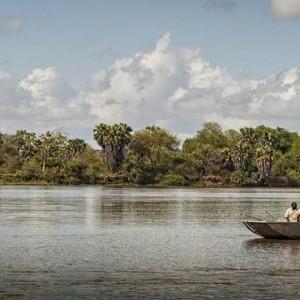 boat safari - Azura Selous Game Reserve - Luxuxry Tanzania Holidays
