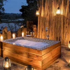 candlelit bath - Azura Selous Game Reserve - Luxuxry Tanzania Holidays