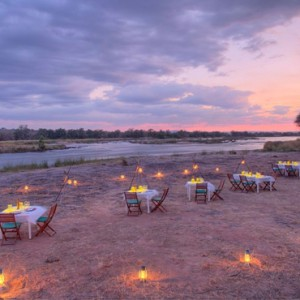 dining - Azura Selous Game Reserve - Luxuxry Tanzania Holidays
