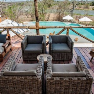 inside deck - Azura Selous Game Reserve - Luxuxry Tanzania Holidays